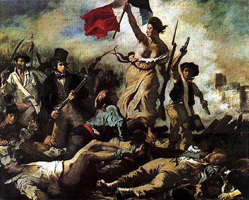 La libertà guida il popolo rivoluzione francese