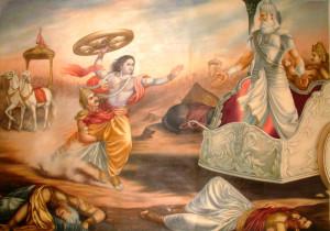 arjuna krishna bhagavadgita kurukshetra mahabharata etica aria guerra santa razza evola