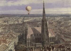 Julius evola meditazione esperienza volo invernale ala littoria jakob alt ballonfahrt ueber wien aquarell 1847