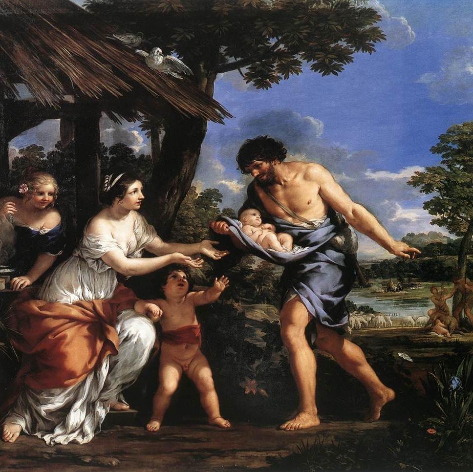 Romolo e Remo raccolti da Faustolo-pietro da cortona-roma