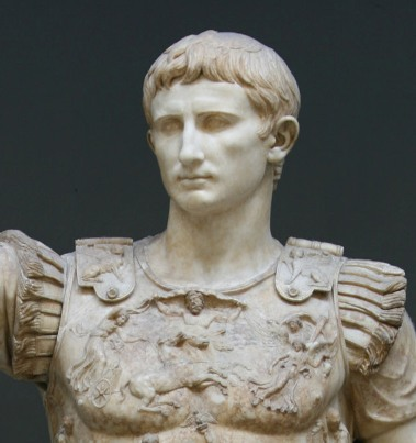 Augustus-imperatore-von Prima Porta (20-17 v. Chr.), aus der Villa Livia in Prima Porta, Roma, 1863
