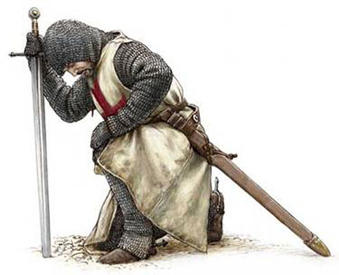cavaliere cavalleria crociate templari evola guerra razza roma bernardo di chiaravalle santa militia