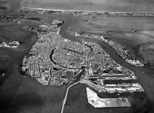 Venezia veduta aerea evola volo