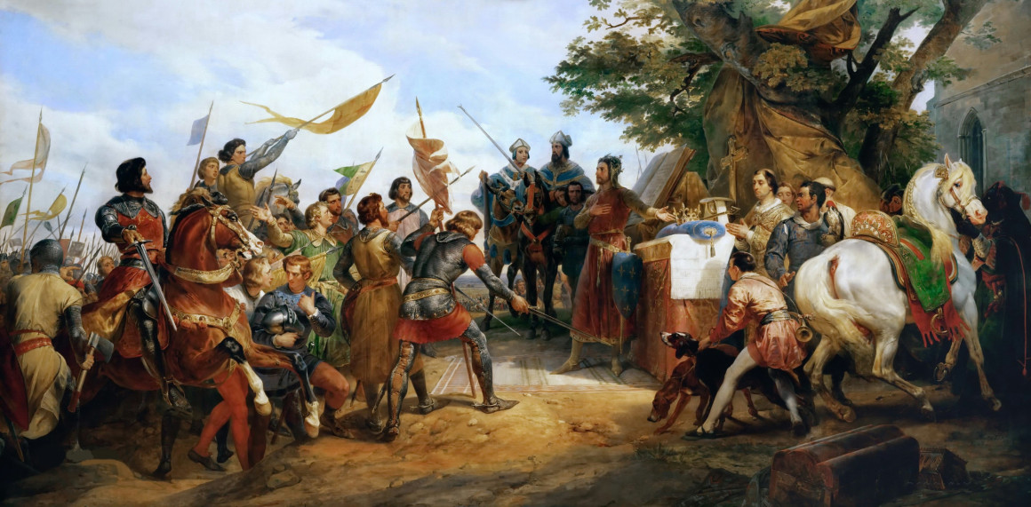 Il Re di Francia Filippo II vittorioso a Bouvines (1215)