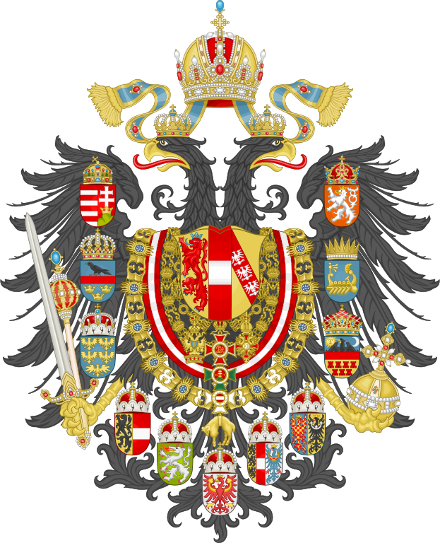 Stemma imperiale asburgico nel 1892