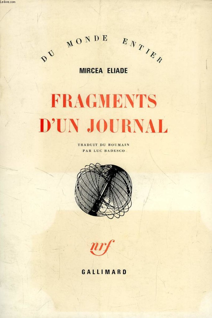 mircea eliade- fragments d'un journal