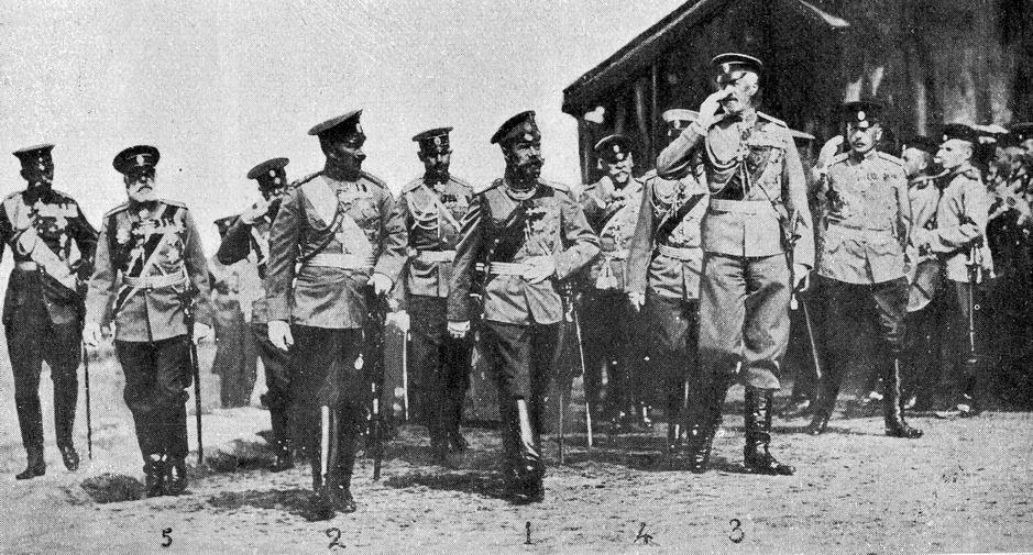 Il kaiser Guglielmo II e lo zar Nicola II