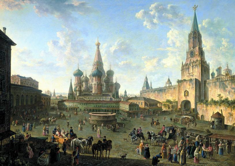 """La piazza rossa"", Fedor Alekseev (1802)"
